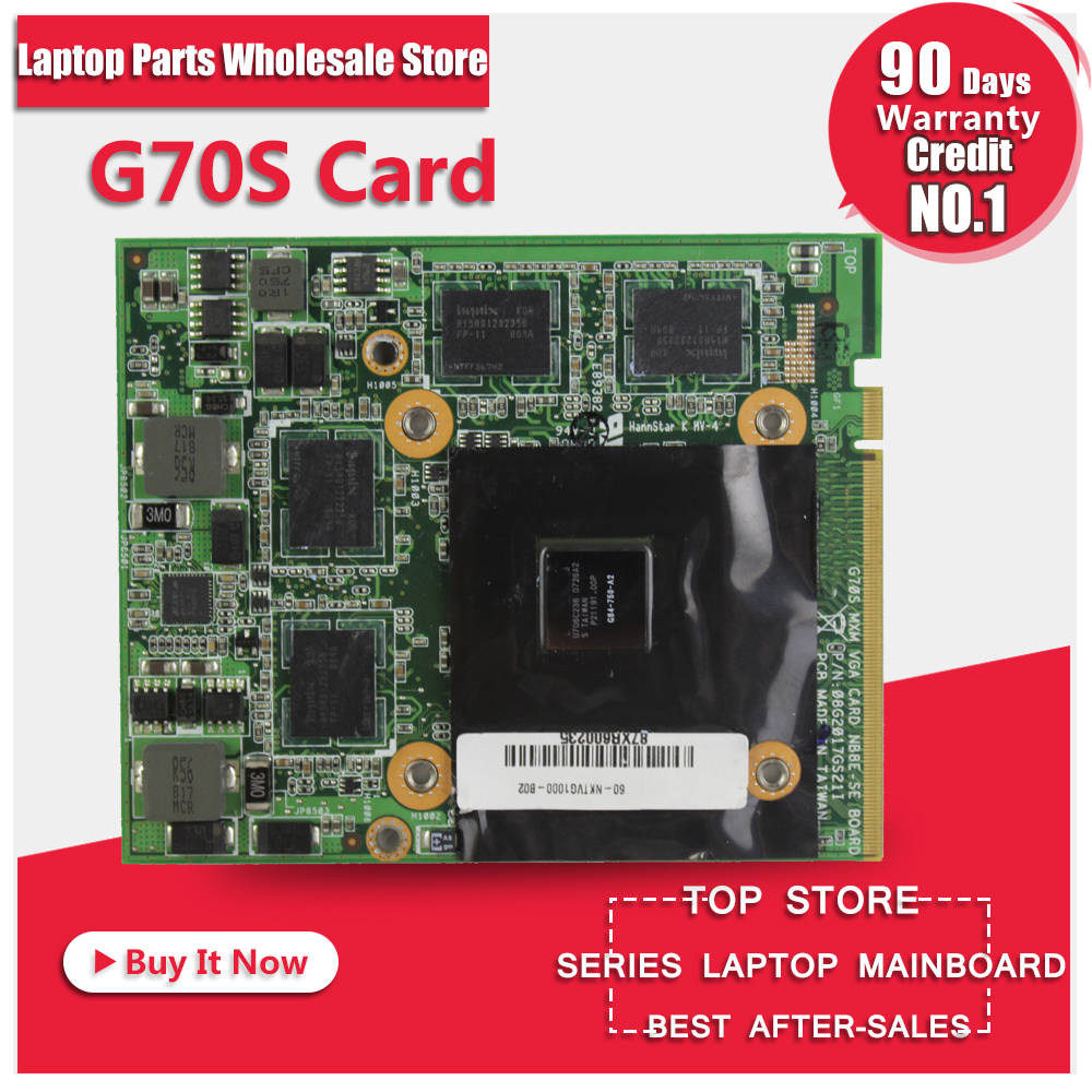 Original Video card For ASUS G70 G70S G84-720-A2 graphic card tested original graphic card for hp nx9420 nw9440 x1600 256mb ls 2821p video display card working well grade aaa