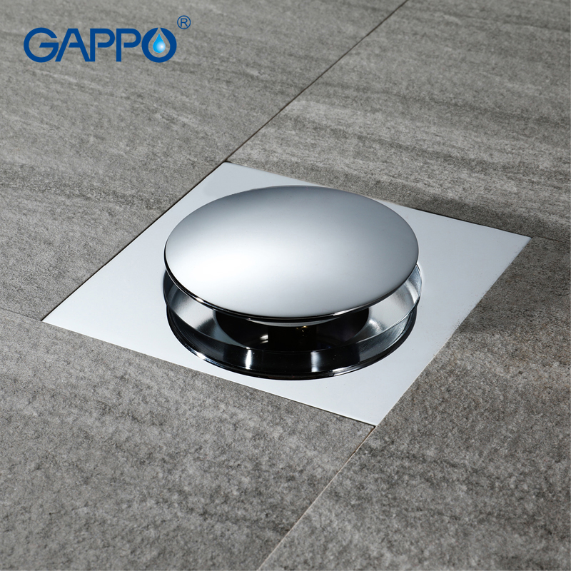 GAPPO Drains square bathroom shower drain strainer waste drainer anti-odor bath shower floor drain cover stopper shower harizma щётка массажная большая квадратная черная красная