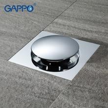 GAPPO Drains square bathroom shower drain strainer waste drainer anti odor bath shower floor drain cover stopper shower