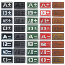 Blood Type Patch A+ B+ AB+ O+ Positive A B AB O + POS A- B- AB- O- NEG - Negative PVC Badge Morale Tactical Military Hook