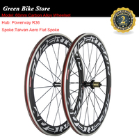 SUPERTEAM 700C Alloy Brake Carbon Wheels Road Bicycle Carbon Wheel Aluminium Clincher Road wheelset Chinese Bicycle Wheels