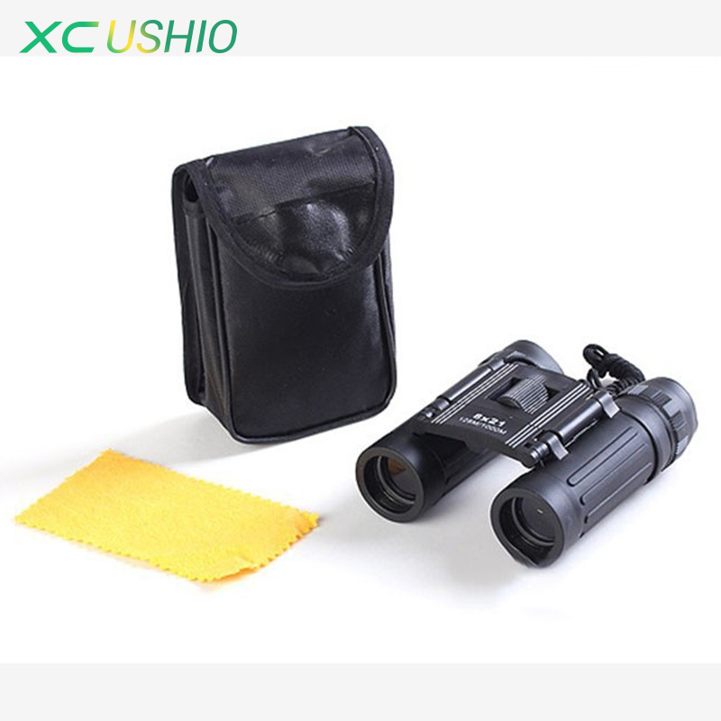 Mini Portable Folding Binoculars Optical Blue Film Coating HD Binocular Pocket Telescope for Outdoor Travel Sports Gift for Kids