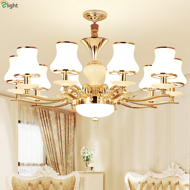 Modern Re Marble Led Pendant Chandeliers Lights Gold Metal Living Room Chandelier Lighting Dining Hanging