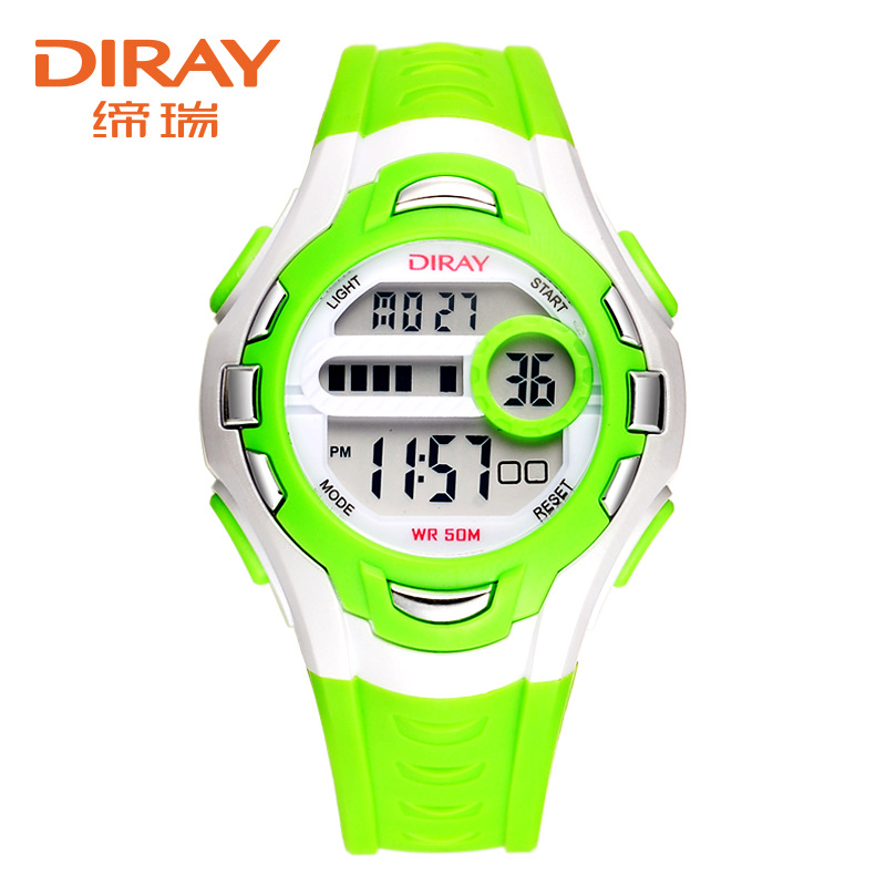 DIRAY Fashion Brand Digital Watch Children Sport Watches Waterproof Silicone LED Watch Kids Watches Hour Baby