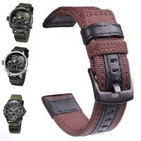 Nylon Watchbands Men Sport Nato Strap 22mm 24mm Black Green Coffee Watch Band Belt Stainless Steel