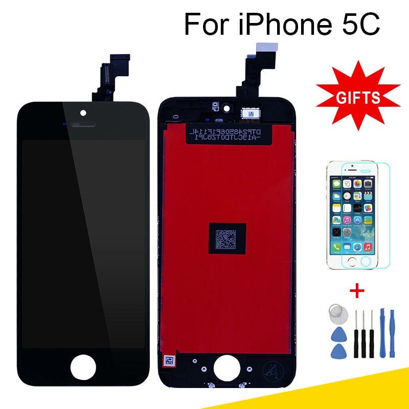 imágenes para Para el iphone de Apple 5C LCD marco de la Pantalla Pantalla Táctil con Digitalizador y grado AAA + highscreen Asamblea Reemplazo de piezas de repuesto