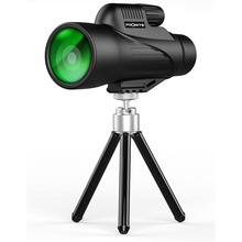Monocular 12x50 Zoom Vision Hunting Telescope Professional HD telescopic mirror Opera Turizm Spyglass / phone holder