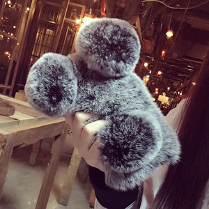 Image 4 - For Redmi Note 6 7 pro 5 4X 5A 6A 7 For Xiaomi A1 A3 A2 lite 8  9 Cute Panda ears Bunny Fluffy Rabbit Warm Hairy Fur phone Case