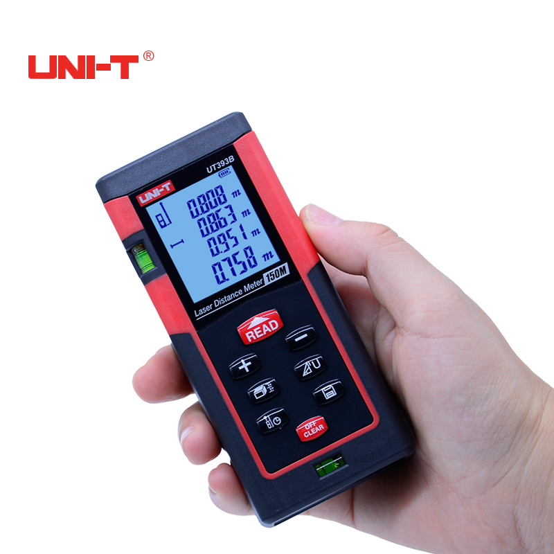 UNI-T UT393B 150m high accuracy laser distance meter Laser Digital rangefinder range finder Measure Area/volume Tool uni t ut392a 80m handheld high accuracy laser distance meter laser digital range finder measure area volume tool with lcd