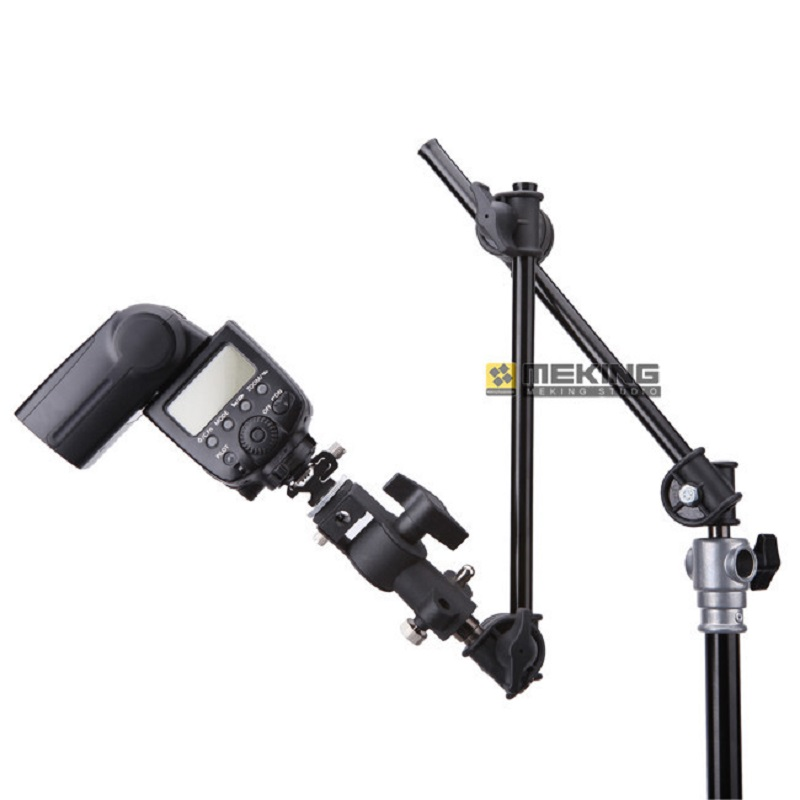 Selens Photo Studio M11-098 Two-section Adjustable Articulated Arm Sliding Extension System Photography Stand Handle Grip