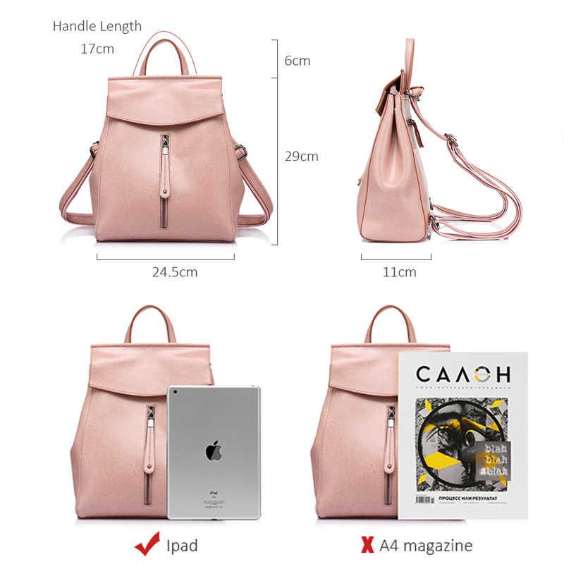 REALER kadınlar sırt çantası yüksek kaliteli deri okul sırt çantaları genç kızlar için crossbody çanta omuz çantaları kadın 2020 için