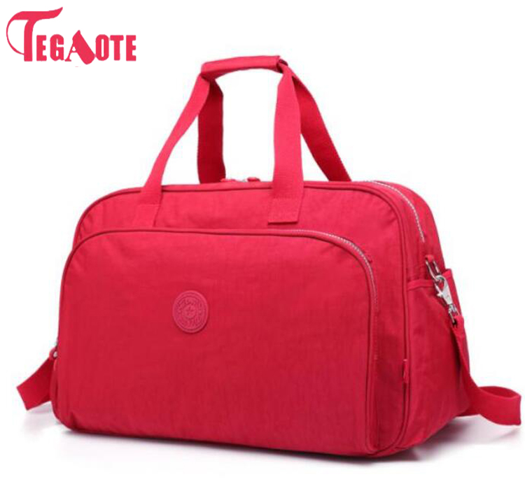 TEGAOTE Fashion Women Travel Bag Large Capacity Luggage Duffle Bag Waterproof Portable Travel Tote Bags Women Handbags Bolsas tegaote newest women travel bags large capacity duffle luggage big casual tote bag nylon waterproof bolsas female handbags