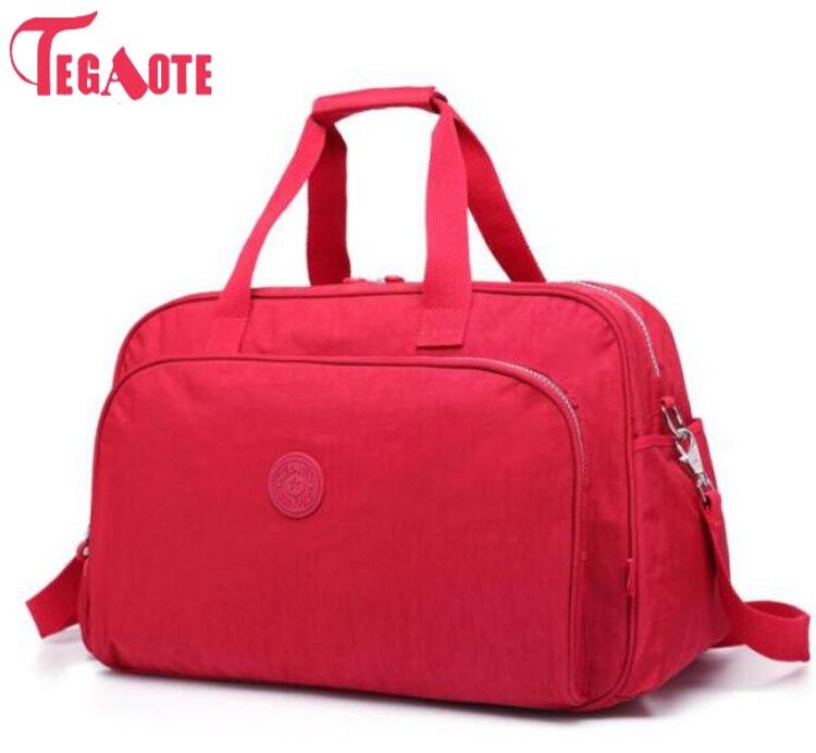 TEGAOTE mode femmes sac de voyage grande capacité bagages sac de sport étanche Portable voyage fourre-tout sacs femmes sacs à main Bolsas