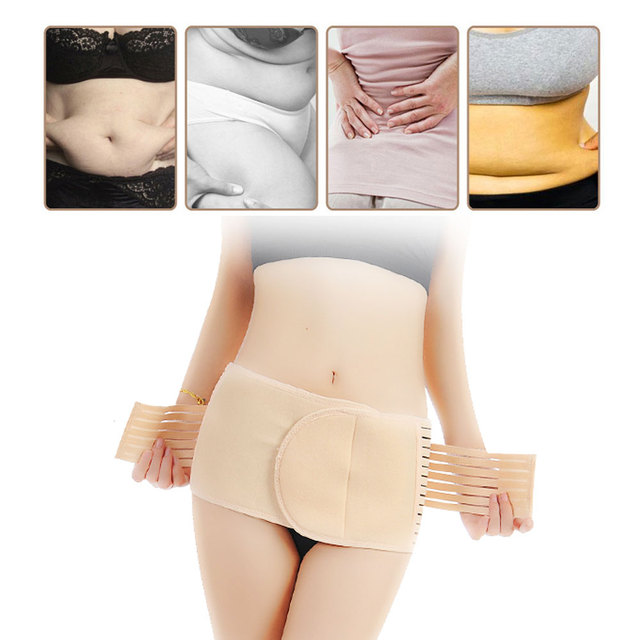 1Pcs Abdominal Belt full elastic binder after delivery for women for slim Support Maternity tummy waist belly trimmer fat burner 5