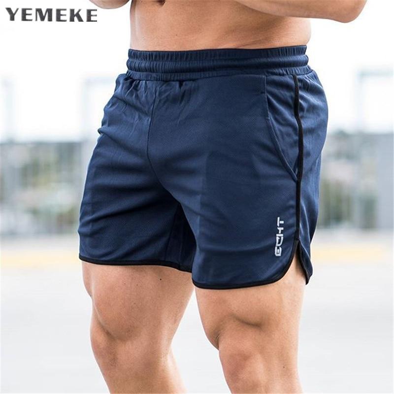 Mens shorts di Vitello-Lunghezza palestre Per Il Fitness Bodybuilding Casual Jogging allenamento di Marca di sport pantaloni corti pantaloni Sportivi Abbigliamento Sportivo