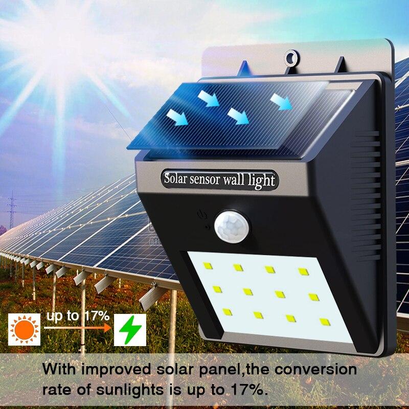 Solarlampe Induktionsgarten Licht PIR Menschlichen Körper - Außenbeleuchtung - Foto 4
