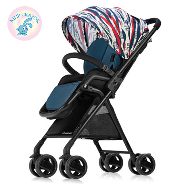Russia free shipping Buggy Strollers ultra-portable high landscape can sit reclining stroller summer