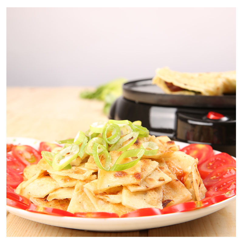 Image 2 - 220V Non stick Electric Crepe Maker Pizza Maker Pancake Maker Crepe Making Pan For Household Kitchen Tool Cooking Pan-in Crepe Makers from Home Appliances