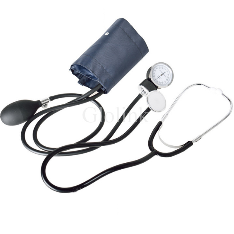 Aneroid Sphygmomanometer Blood Pressure Measure Device Kit Cuff Stethoscope Home Use Blood Pressure Manual Sphygmomanometer advanced full function nursing training manikin with blood pressure measure bix h2400 wbw025