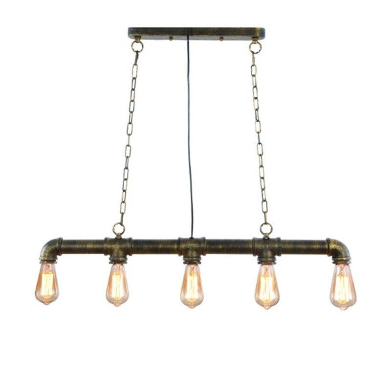 С лампами Эдисона, на заказ барная стойка для осветительных приборов, светильники в стиле лофт, винтажные подвесные светильники, водопровод