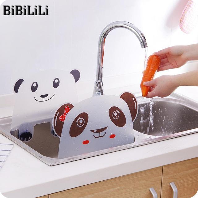 Cute Panda Piatto di Cucina Deflettore Sink Acqua del Lavandino Da Cucina In Pla