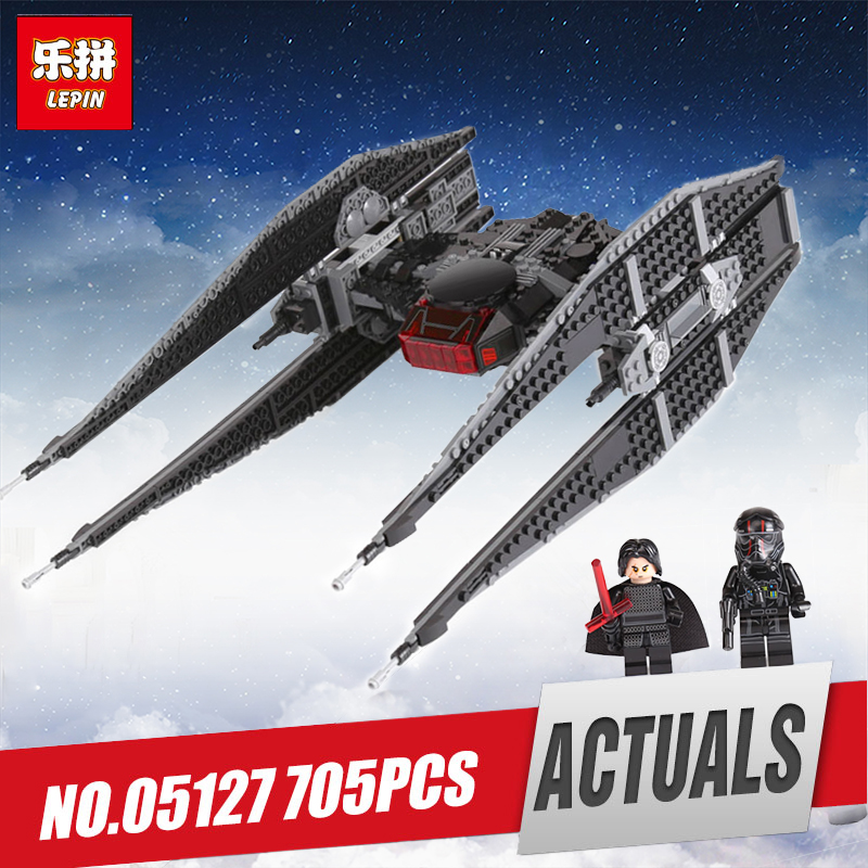 Lepin 05127 Star The Tie Model Batman Fighter Sets Compatible legoinglys 75179 Wars Building Blocks Brick Boys Children Toys new 1685pcs lepin 05036 1685pcs star series tie building fighter educational blocks bricks toys compatible with 75095 wars