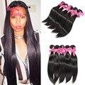 7A 30 32 34 36 38 дюймов малайзии девы для волос 5 шт. шелк человеческие волосы пучок предложения Halolady необработанные человеческие волосы