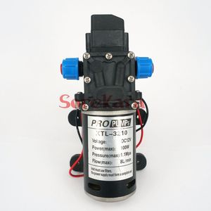 T-YB DC 12V 100W Self-priming Booster Diaphragm Water Pump Automatic Pressure Switch 300L/H For Car washing(China)