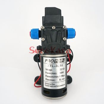 T-YB DC 12V 100W Self-priming Booster Diaphragm Water Pump Automatic Pressure Switch 300L/H For Car washing image