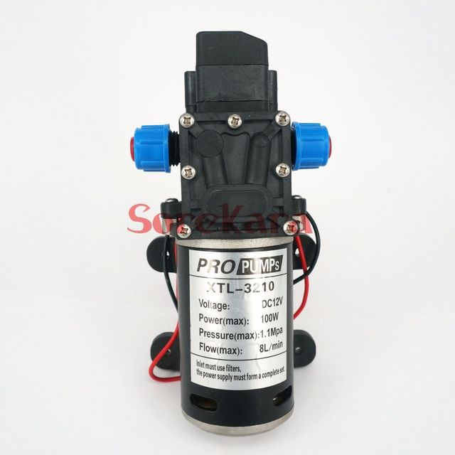 T YB bomba de agua de diafragma, refuerzo autoaspirante, interruptor de presión automático, 300L/H, DC 12V, 100W, para lavado de coche
