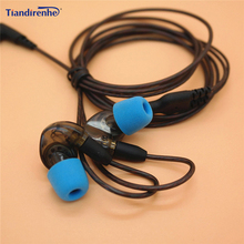 DIY החלפת אוזניות MMCX כבל עבור Shure SE215 SE535 SE846 UE900 משודרגת 14 ליבות אוזניות אודיו עבור iphone אנדרואיד