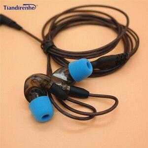 Image 1 - DIY wymiana słuchawki kabel MMCX dla Shure SE215 SE535 SE846 UE900 ulepszony 14 rdzeni zestaw słuchawkowy przewód Audio dla iphone Android