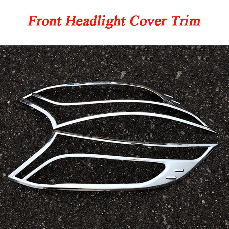 Car ABS Chrome Front Headlight Cover Trim For Mercedes Benz W447 Vito V260 2016 2017 2018
