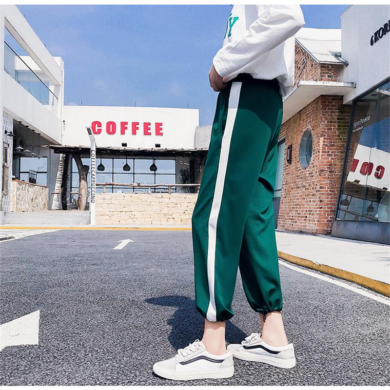 Casual Autumn Casual Thin   Wide     Leg     Pant   Women's   Pants   Korean Punk Harajuku Ulzzang Female Cute Vintage Kawaii Trousers For Women