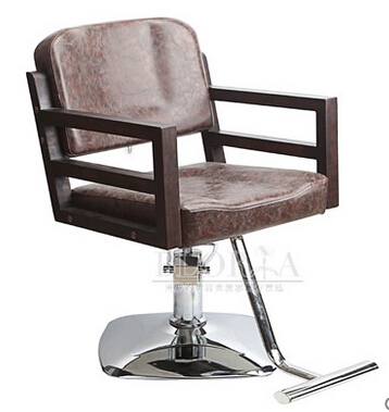 The New Barber Chair. Solid Wood Hairdressing Chair. The Chair Europe Type Restoring Ancient Ways.