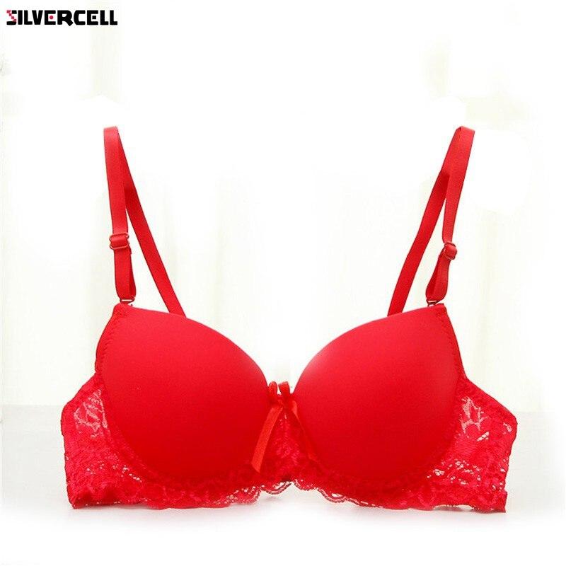 Buy ZH Women Bra Lace Underwire Lingerie Underwear Push-Up Bra Padded Brassiere 34A-36B
