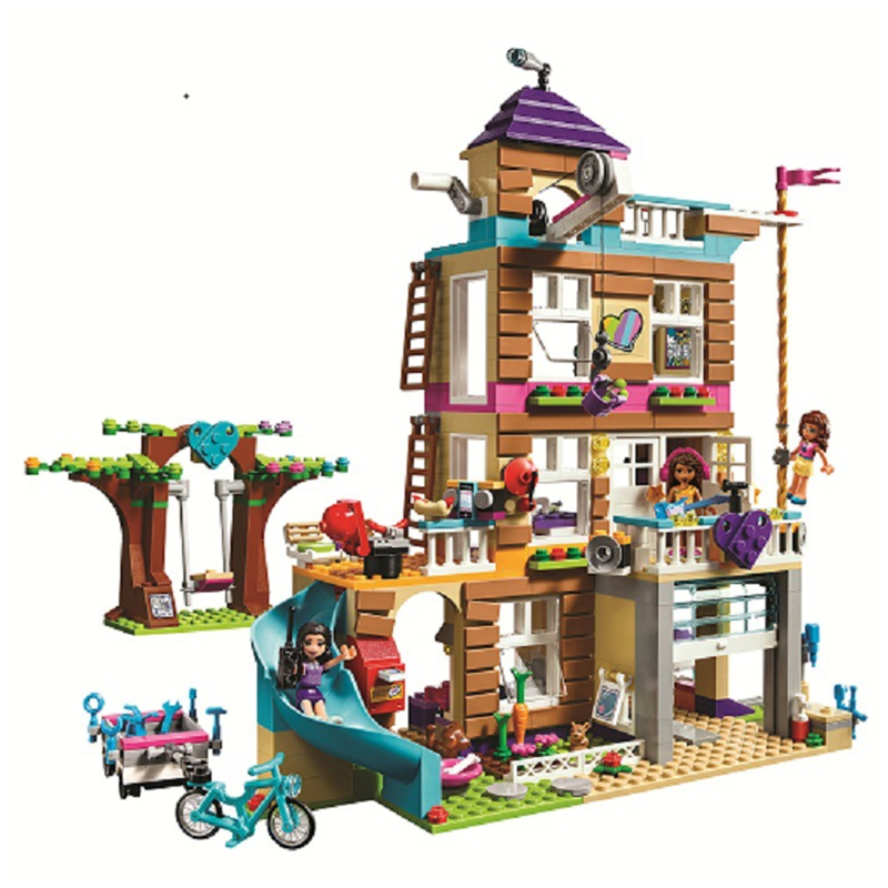 10859 Friends 730Pcs toys for children Girls Series Friendship House Set Building Blocks Bricks Kids Gifts Compatible Legoings 808pcs diy new girls series the friendship house set building blocks bricks friends toys for children compatible legoingly 41340