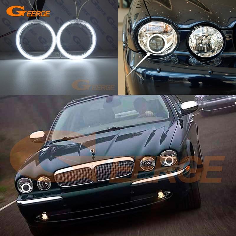 For Jaguar XJ XJ6 XJ8 X350 X358 2003-2009 Xenon headlight Excellent Ultra bright illumination CCFL Angel Eyes kit Halo Ring for alfa romeo 147 2000 2001 2002 2003 2004 xenon headlight excellent ultra bright illumination ccfl angel eyes kit halo ring
