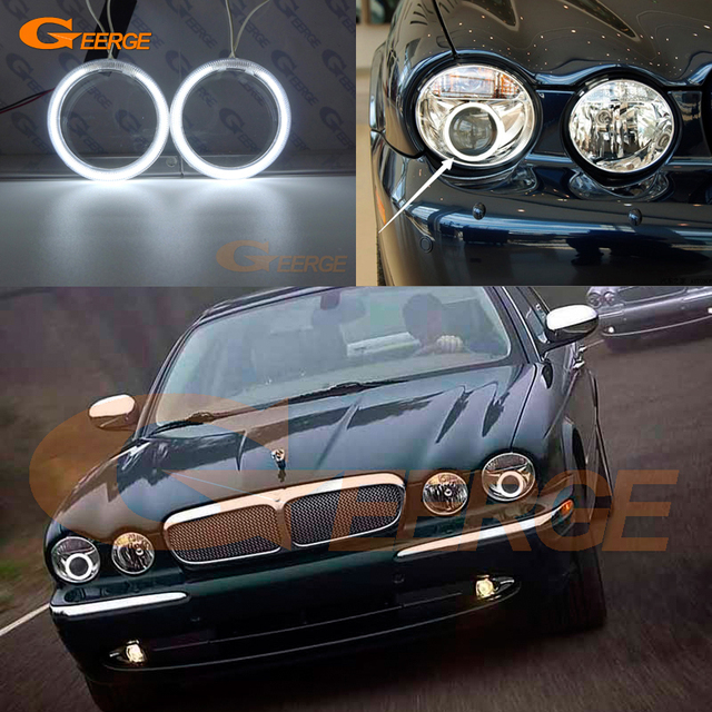 For Jaguar Xj Xj6 Xj8 X350 X358 2003 2009 Xenon Headlight Excellent Ultra Bright Illumination Ccfl Angel Eyes Kit Halo Ring