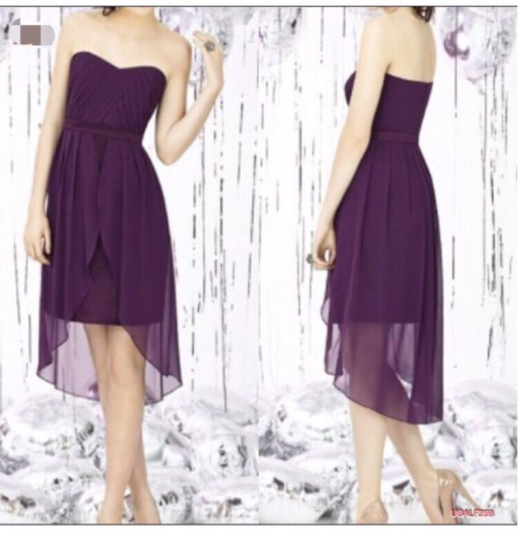 Compra sin tirantes púrpura vestidos de dama de honor online ...