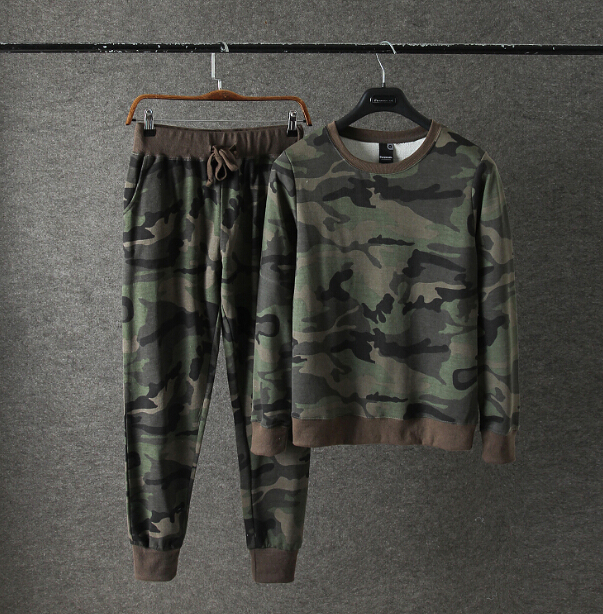 Men's Set Camouflage Hoodies And Sweatpants Set Casual Sportswear Suit Mens Sporting Tracksuit Set
