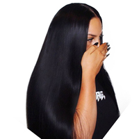 Straight 13x6 Lace Front Human Hair Wigs With Baby Hair Deep Part Lace Frontal Wig Full End 150% Density Ever Beauty Remy