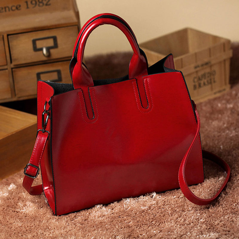 d3896913cb3d6 2018 Women Crossbody Messenger Bags Vintage Tote Shoulder Leather Handbags  For Famous Luxury Brand Designer Bolsa Feminina Mujer-in Top-Handle Bags  from ...