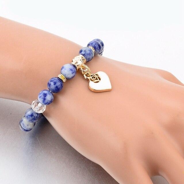 женский браслет с натуральным камнем chicvie этнический в стиле фотография