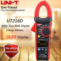 UNI T UT216D AC DC 600A True RMS Digital Clamp Meter Relative Measurement Temperature Test Frequency
