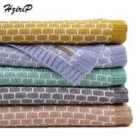 HziriP 13 Colors Newborn Baby Blanket Infant Soft Cotton High Quality Plaid Crochet Blankets Baby Air