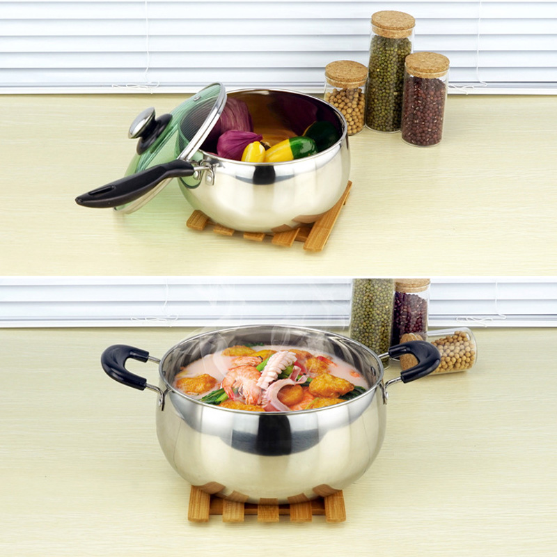 Hot 1 Pcs Stainless Steel Cook Pot Stockpot with Lid Milk Saucepan Cookware FQ ing in Soup Stock Pots from Home Garden
