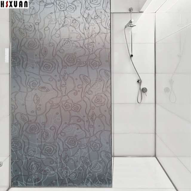 358x393in Bamboo Privacy Frosted Glue Bedroom Bathroom Glass