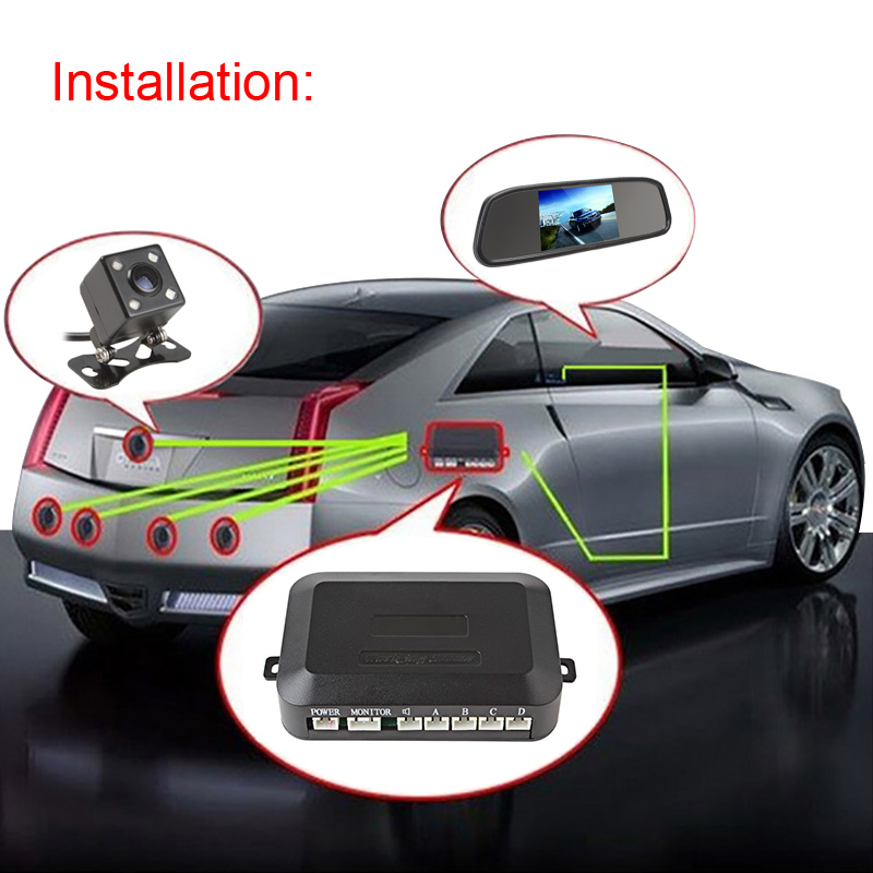 Dual Core CPU Car Video Parking Sensor Reverse Backup Radar Assistance Auto parking Monitor Digital Display and Step up Alarm in Vehicle Camera from Automobiles Motorcycles