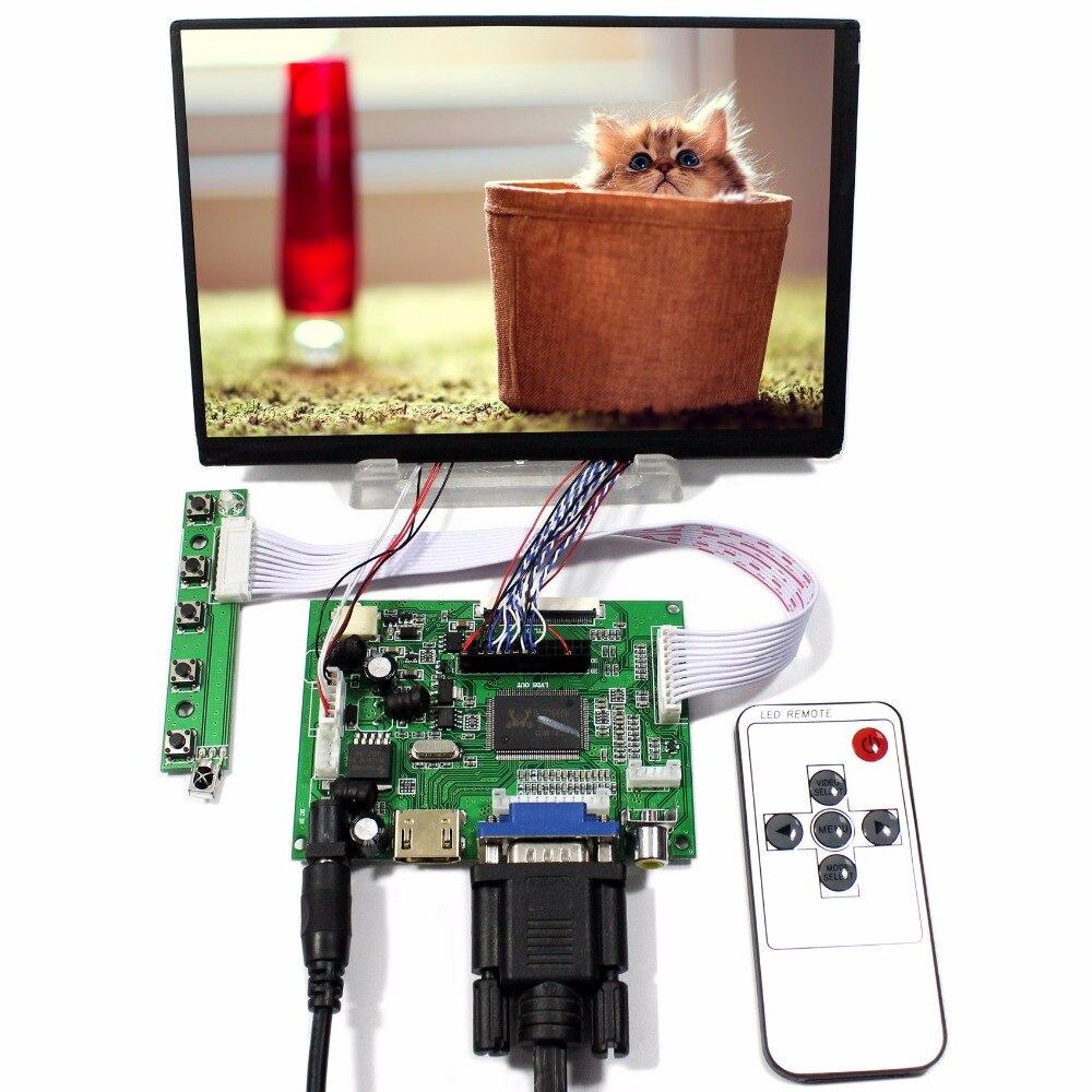 HDMI VGA 2AV LCD controller board with 7inch N070ICG LD1 1280x800 IPS lcd  39pin Reversal
